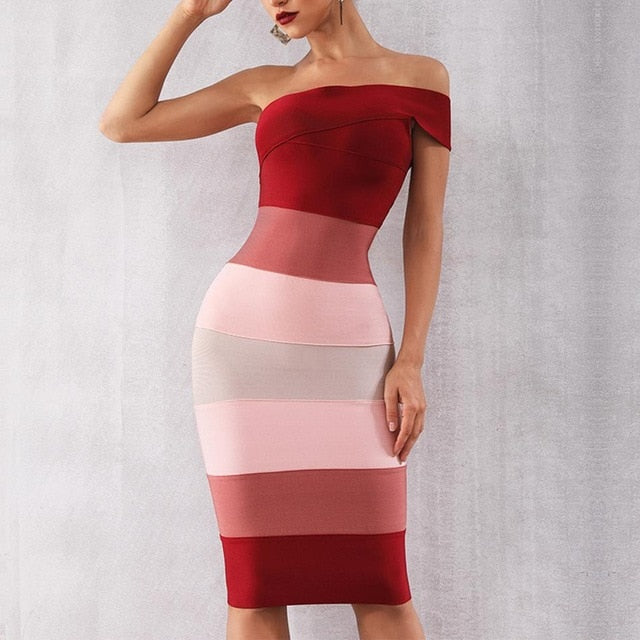 Newest Celebrity Party Bodycon Bandage Dress Women Short Sleeve One-Shoulder Sexy Night Out Club Backless Dress Women Vestidos