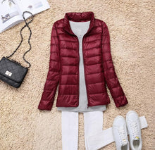 Load image into Gallery viewer, Sanishroly 2018 New Autumn Winter Women Thin White Duck Down Jacket Parka Female Ultra Light Down Coat Short Tops Plus Size S268