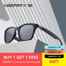 Load image into Gallery viewer, MERRYS DESIGN Men Women Classic Retro Rivet Polarized Sunglasses Lighter Design Square Frame 100% UV Protection S8508