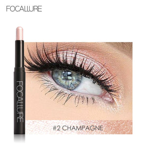 FOCALLURE 12 Colors Eyeshadow Sticker Cosmetics Eye Shadow Pencil Highlighter Shimmer Eyes Makeup Eye Shadow Eye Liner