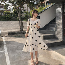 Load image into Gallery viewer, MISHOW Women Summer Beach Chiffon Dress Dot 2019 New Korean Boho Dresses For Girls Slim High Waist Female Vestidos MX19B1384