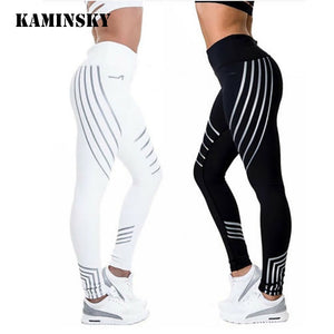 Kaminsky Fitness Leggings Light High Waist Elastic Shine Leggings