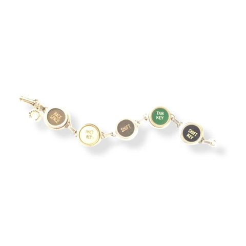 typewriter key bracelets
