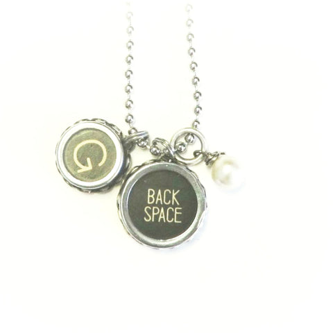typewriter key pendants