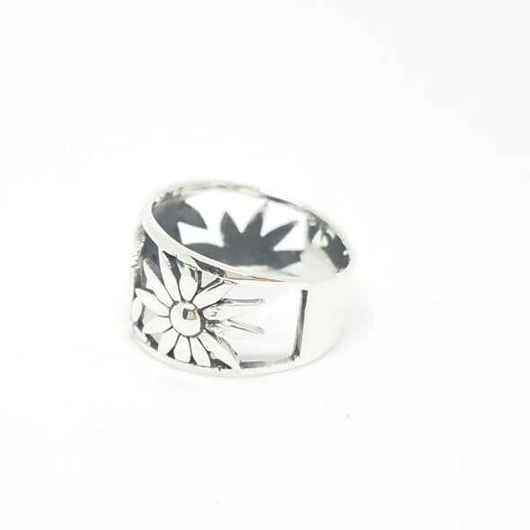 large sunflower ring - r105