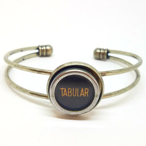 Typewriter key cuff  ~ TABULAR (tcuff 112)