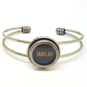Typewriter key cuff  ~ TABULAR (tcuff 114)