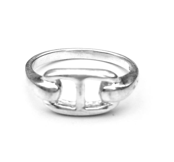 silver buckle ring