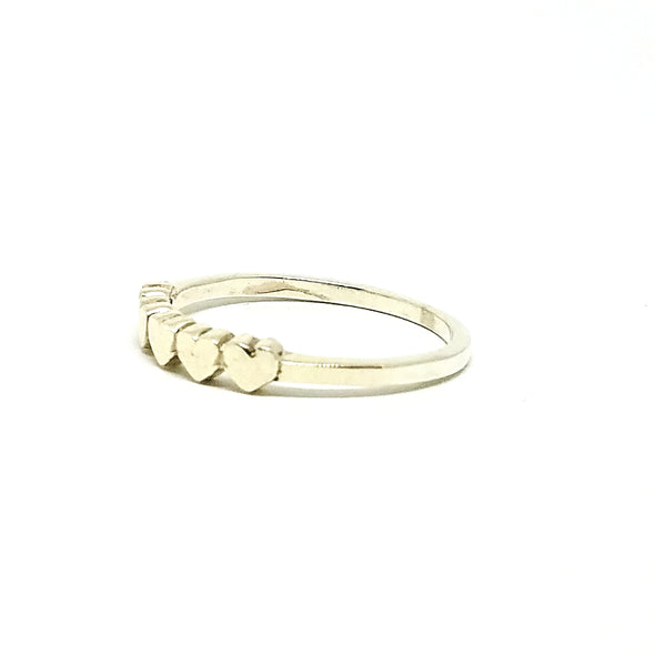hearts ring - r107
