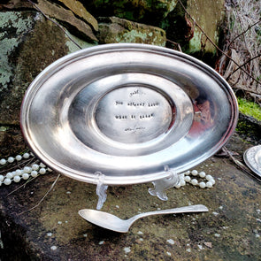 have what it takes stamped vintage silver plated dish sd113