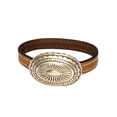 concho  leather cuff