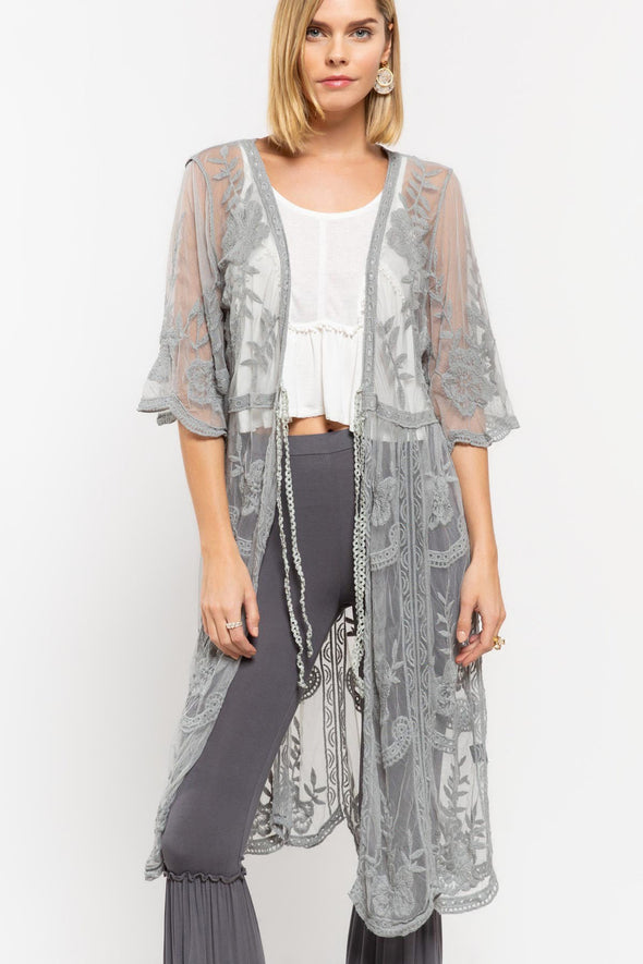 long lace duster SML (232)