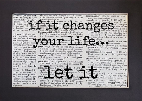 changes your life print