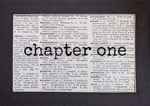 chapter one print
