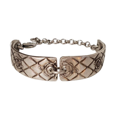 quilted rose double handle bracelet
