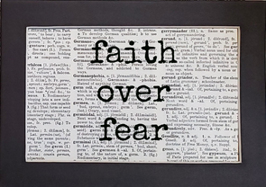 faith over fear print
