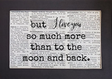 moon & back more print