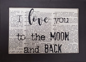 love moon & back print