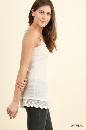 cami tank with lace  hem SML