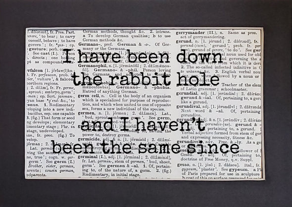 rabbit hole print