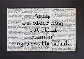 running against the wind print