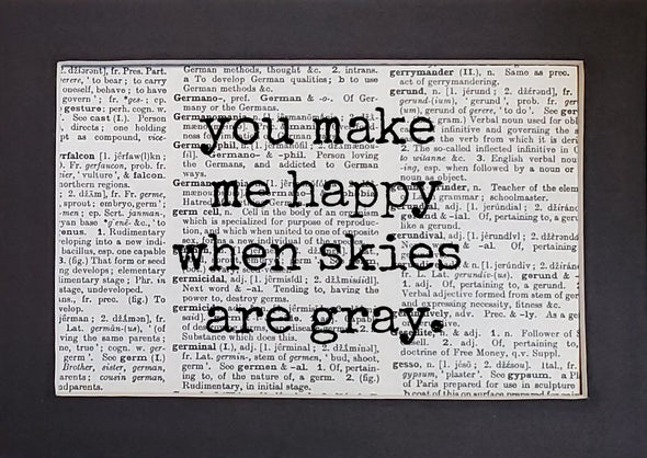 skies are gray print