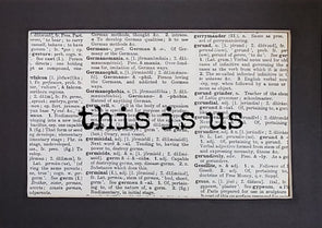 this is us print
