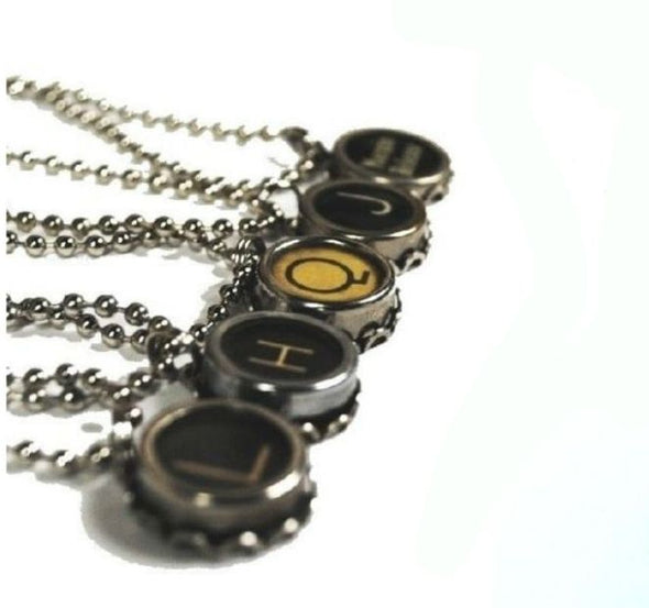 typewriter key pendant