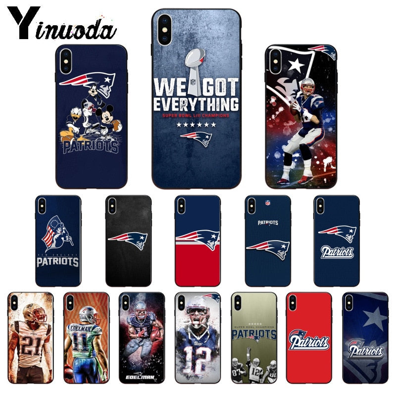 New England Patriots Silicone Soft Phone Cases for Apple iPhone 8, 7, 6, 6S Plus, X, XS MAX, 5, 5S, SE, XR!