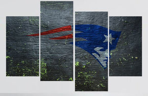 4Pc New England Patriots Wall Home Decor/Canvas Painting!
