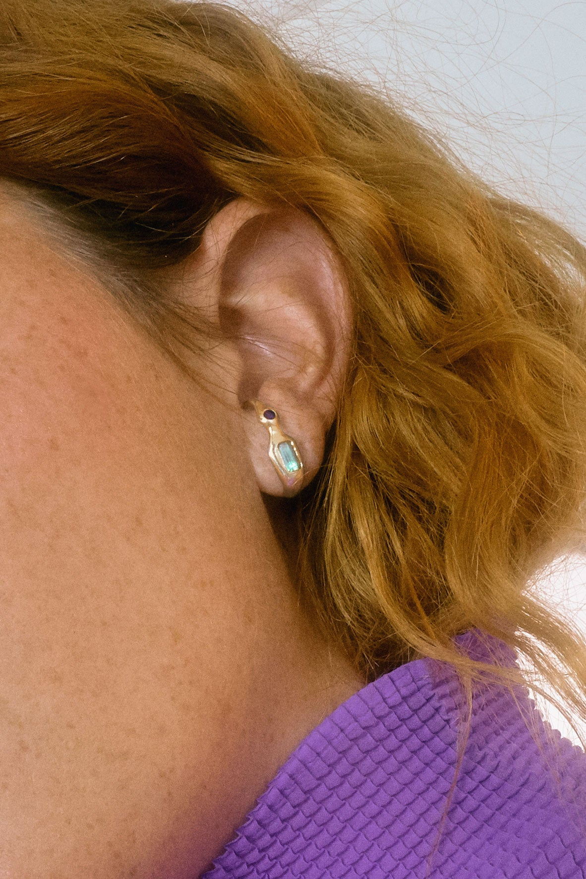 gem lobe earring