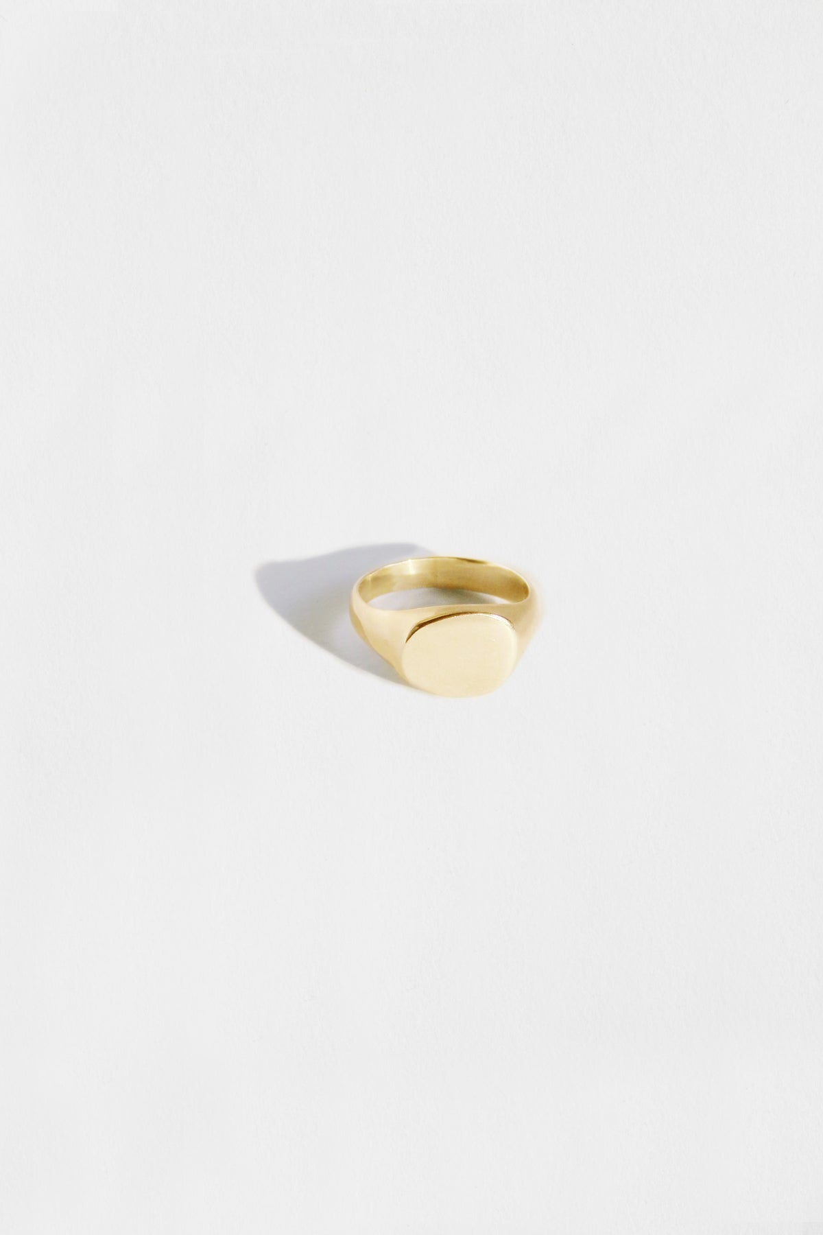 irregular small signet ring