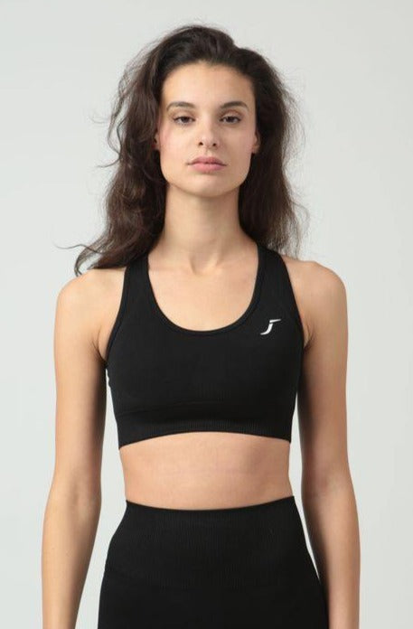 Black Seamless Sports Bra - Jane Gun