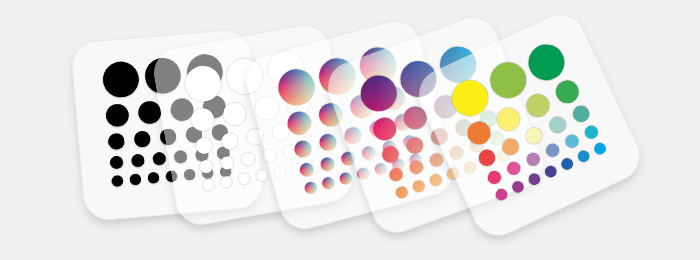 privacy sticker basic colors