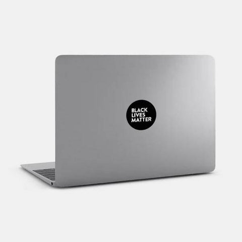 "opaque ""Black Lives Matter"" reusable macbook sticker on a mac by tabtag"