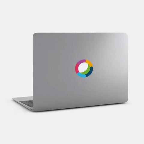 "opaque ""cisco webex teams"" reusable macbook sticker on a mac by tabtag"