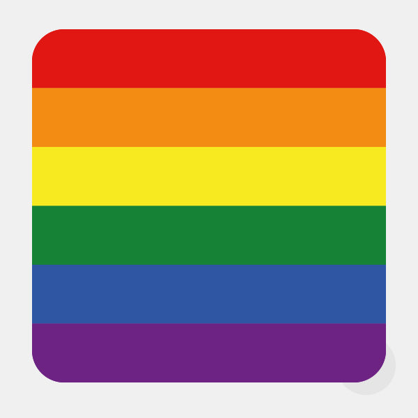 "opaque ""Rainbow Flag"" reusable macbook sticker by tabtag"