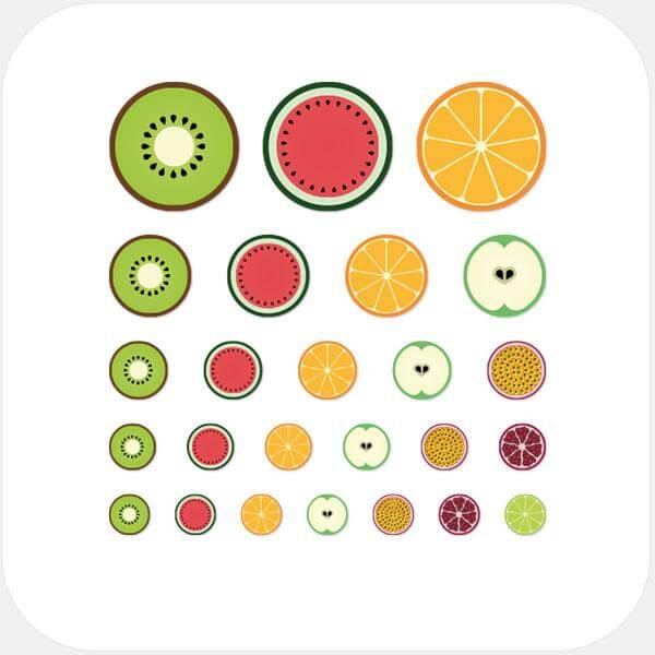 """fruit set"" reusable privacy sticker set by tabtag"