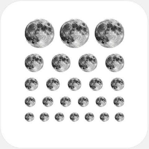 """full moon"" reusable privacy sticker set by tabtag"