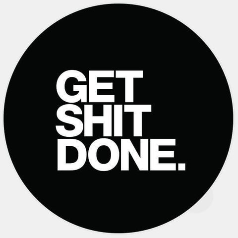 """get shit done"" glowing macbook sticker by tabtag"
