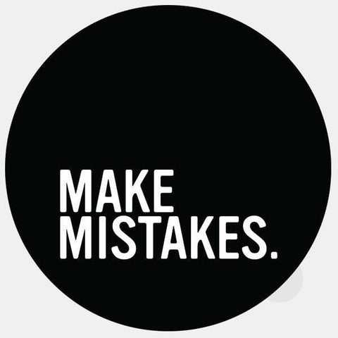 "opaque ""make mistakes"" reusable macbook sticker by tabtag"