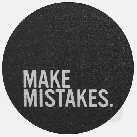 "silver ""make mistakes"" reusable macbook sticker by tabtag"