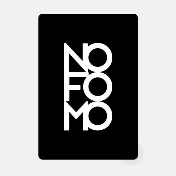 "opaque ""no fomo"" reusable macbook sticker by tabtag"