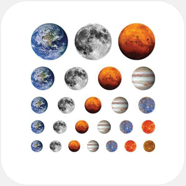 """planet set"" reusable privacy sticker set by tabtag"