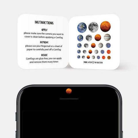 """Planet set"" reusable privacy sticker set on phone by tabtag"