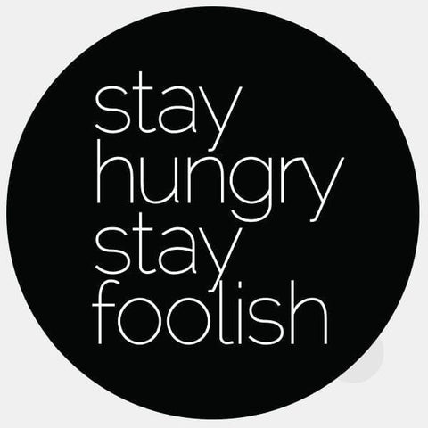 "opaque ""stay hungry stay foolish"" reusable macbook sticker by tabtag"