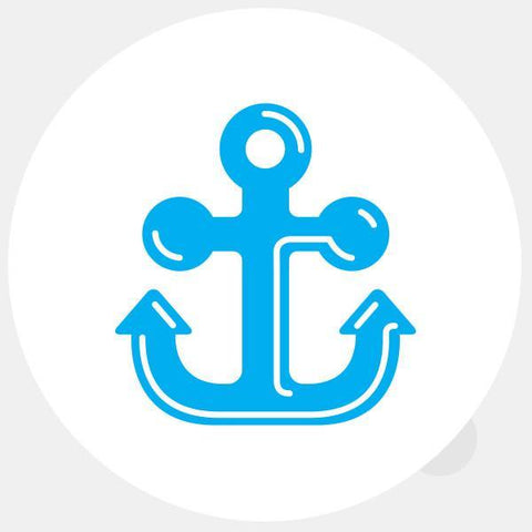 "opaque ""anchor"" reusable macbook sticker by tabtag"