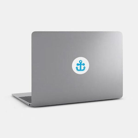 "opaque ""anchor"" reusable macbook sticker on a mac by tabtag"