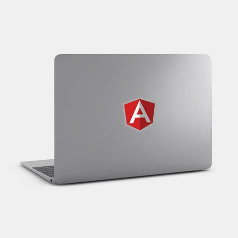 "opaque ""angular"" reusable macbook sticker on a mac by tabtag"