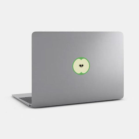 "opaque ""apple""reusable macbook sticker on a mac by tabtag"